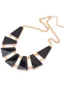 Black Geometric Shaped Necklace