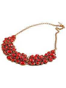Red Drop Gemstone Necklace