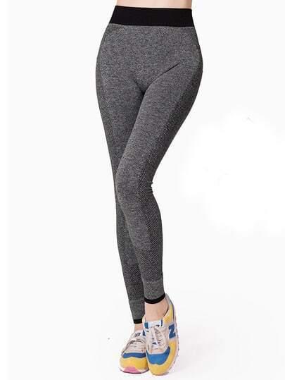 Contrast Trim Skinny Capri Leggings