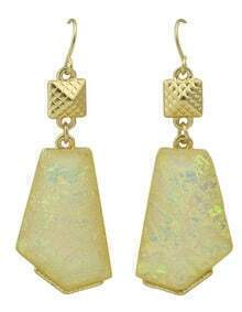 Beige Stone Drop Earrings