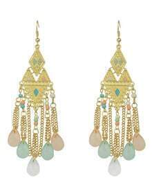 Colorful Beads Chandelier Earrings
