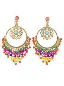 Big Chandelier Beads Earrings