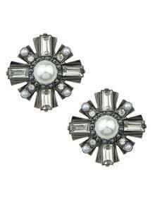 Pearl Snowflake Stud Earrings