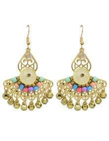 Gold Plated Bead Earrings