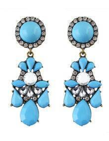 Blue Gemstone Daily Wear Earrings