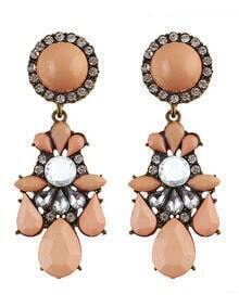 Pink Gemstone Daily Wear Earrings