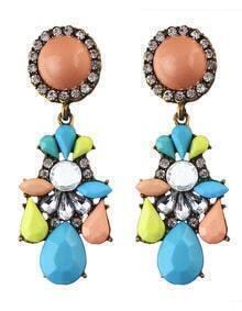 Colorful Gemstone Daily Wear Earrings
