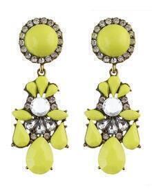 Yellow Gemstone Daily Wear Earrings