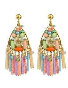 Colorful Beads Big Earrings