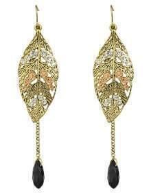 Leaf Shape Long Chain Earrings