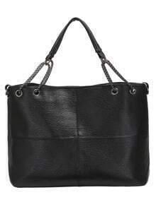 Black Chain PU Shoulder Bag