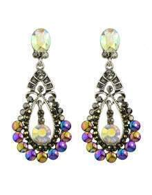 Atsilver Rhinestone Drop Earrings