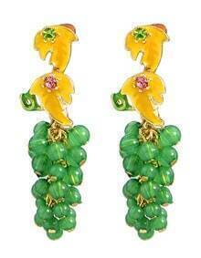 Green Grape Hanging Earrings