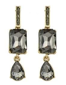 Black Double Stud Earrings
