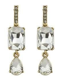 White Double Stud Earrings