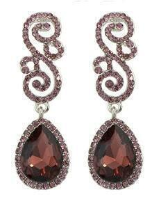 Winered Rhinestone Women Earrings