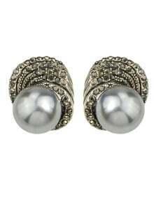 Silver Small Pearl Earrings