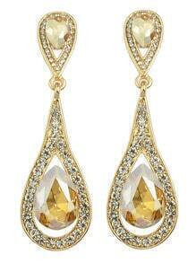 Champagne Elegant Long Drop Earrings