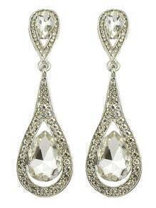 White Elegant Long Drop Earrings