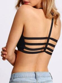 Black Backless Crop Lingerie