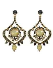 Atgold Rhinestone Chandelier Earrings