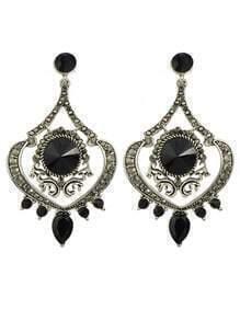 Atsilver Rhinestone Chandelier Earrings