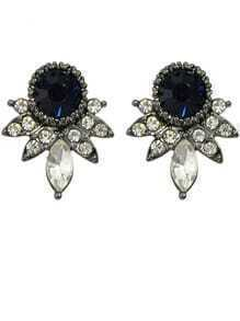 Black Rhinestone Small Stud Earrings