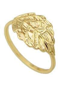 Gold Plated Leaf Shaped Rings