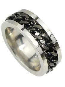 Punk Black Plated Metal Rings