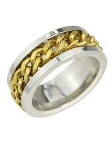 Punk Gold Plated Metal Rings