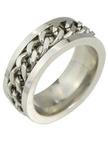 Punk Silver Plated Metal Rings