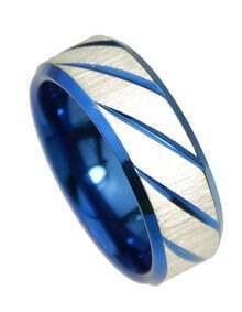 Blue Punk Rock Metal Rings