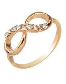 Bow Shape Rhinestone Ring