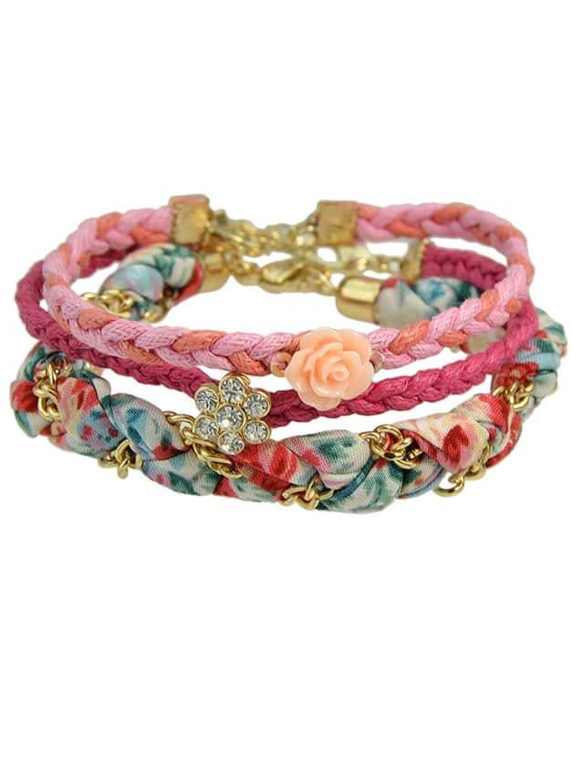 Rhinestone Wrap Bracelet Set