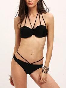 Halter Criss Cross Bikini Sets