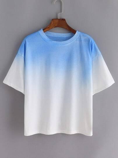 Ombre Loose Blue T-shirt