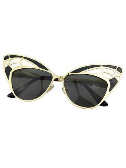 Black Oversized Cat Sunglasses
