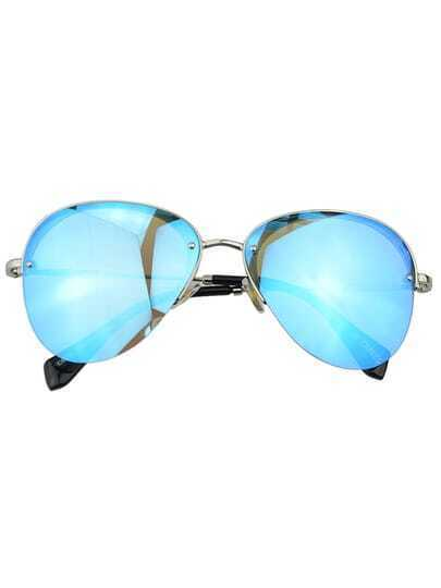 Blue Pilot Women Sunglasses