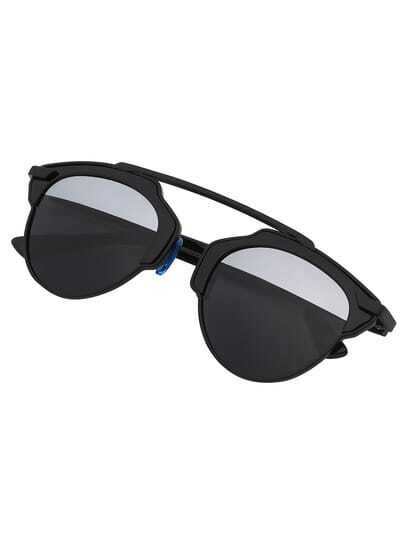 Black Cut Out Frame Fashion Sunglasses