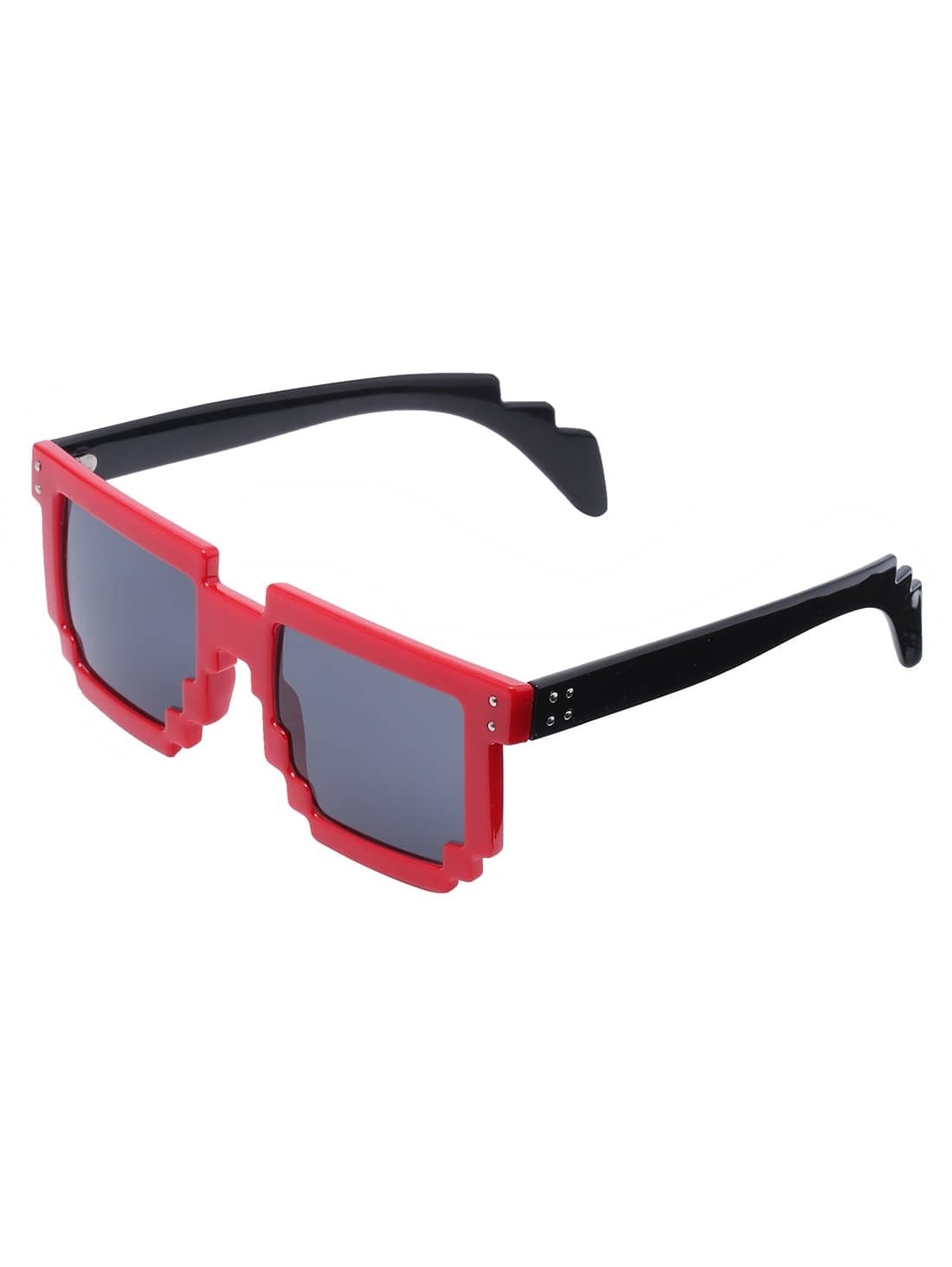 contrast bold frame sunglasses shein sheinside