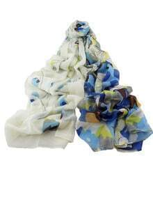 Blue Printed Women Scarf