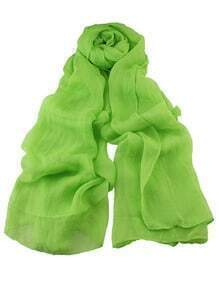 Green Voile Soft Soild Scarf