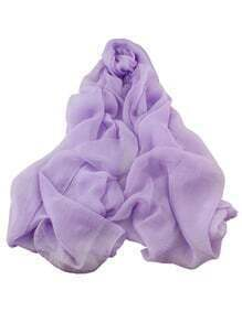 Purple Voile Soft Soild Scarf
