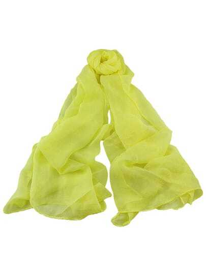 Yellow Voile Soft Soild Scarf