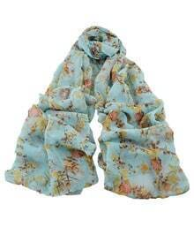 Blue Soft Long Scarf for Ladies