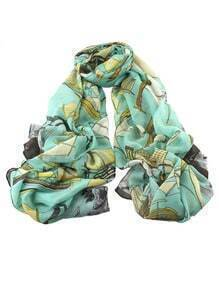 Lakeblue Voile Boat Printed Soft Scarf