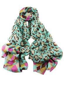 Lakeblue Voile Flower Printed Soft Scarf