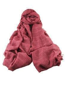 Red Long Voile Soild Scarf