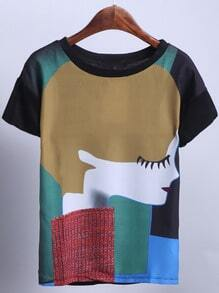 Girl Print Short Sleeve T-Shirt