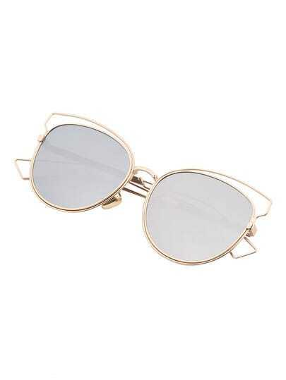 Silver Bowline Assymetrical Lenses Sunglasses